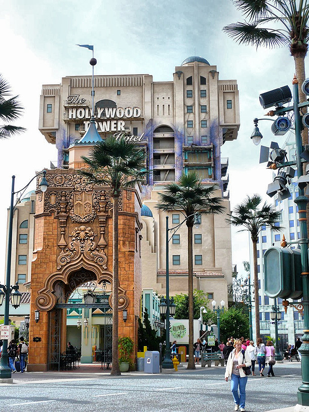 Hollywood Tower in Disneyland Studios