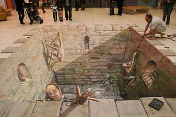 3D Anamorphic Illusion in the street