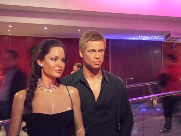 Brad Pitt and Angelina Jolie at Madam Tussaud in London