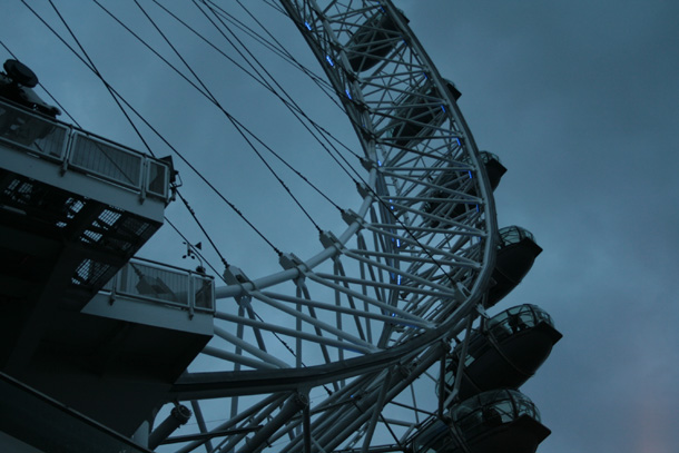Close view of London Eye