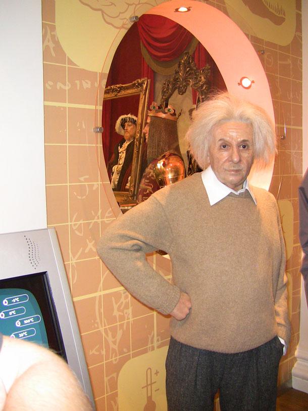 Einstein at Madam Tussaud in London