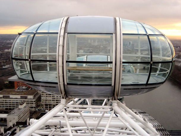 Empty Capsule in London Eye