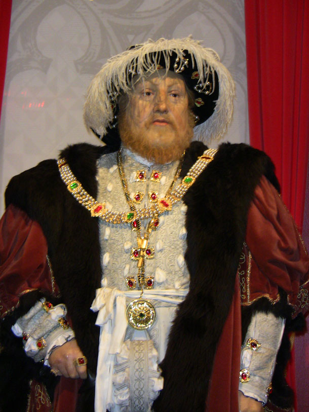 Henry the 8th at Madam Tussaud in London