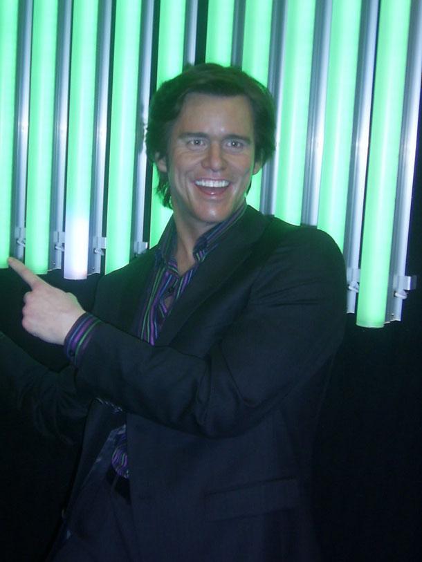 Jim Carrey at Madam Tussaud in London