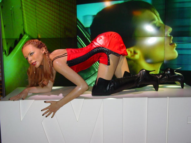 Kylie Minogue at Madam Tussaud in London