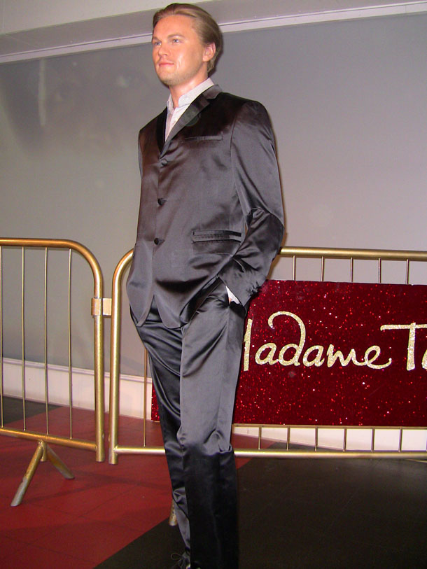 Leonardo di Caprio at Madam Tussaud in London