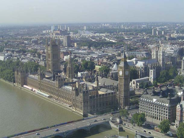 London at day from the London Eye Wheel