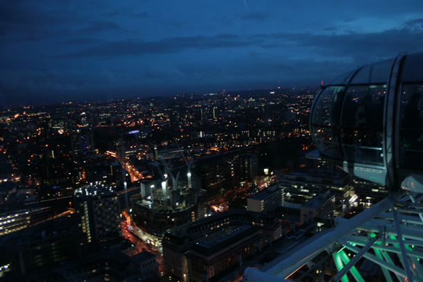 London from the top of London Eye