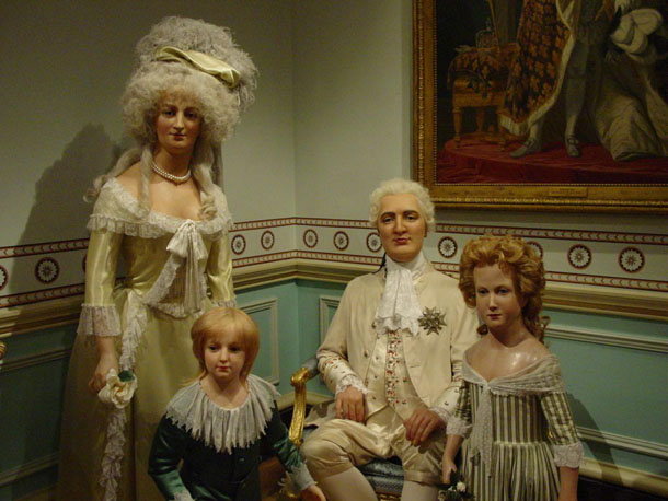 Louis XVI, Marie Antoinette & family at Madam Tussaud in London