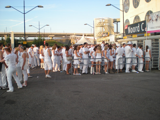 People in white at Sensation Amsterdam 2009