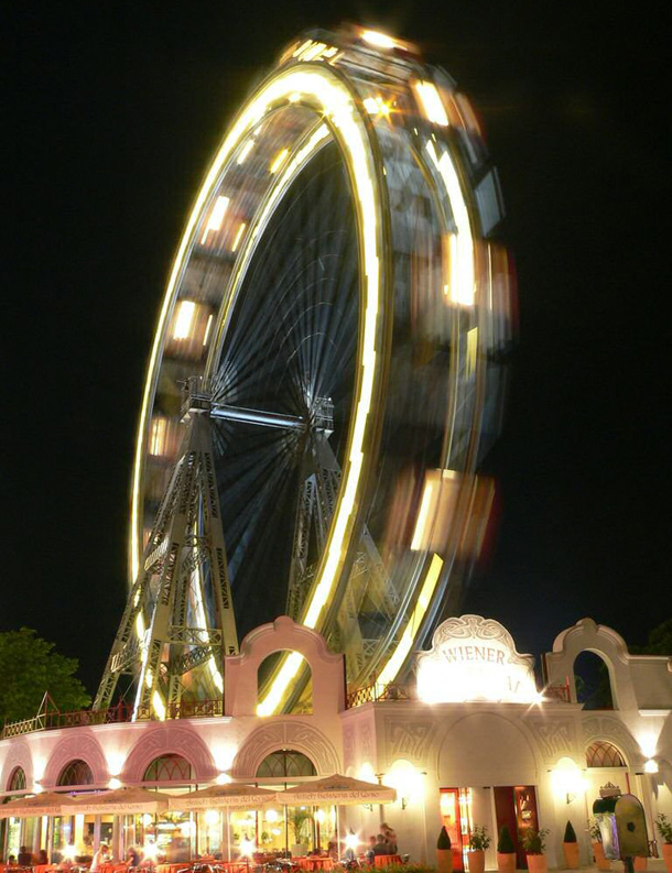 Prater Park Wheel at night