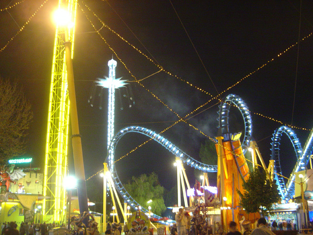 Prater Park in the evening