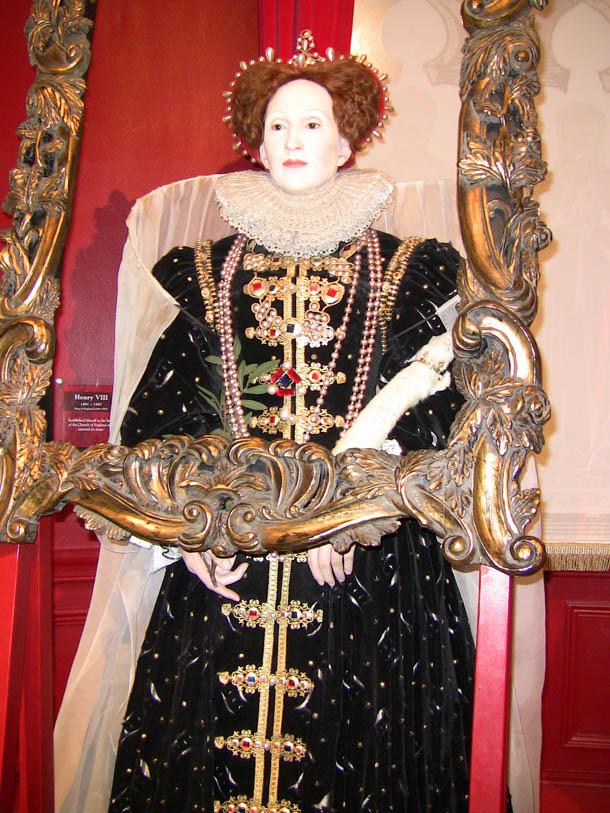 Queen Elizabeth at Madam Tussaud in London