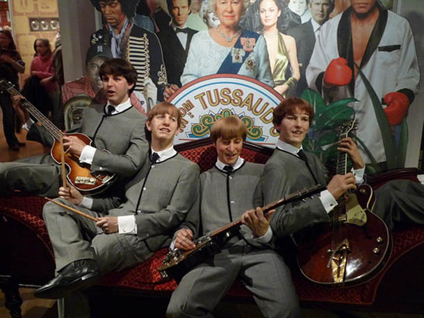 The Beatles at Madam Tussaud in London