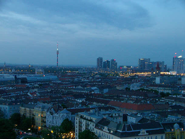 Vienna from the top of the Wheel