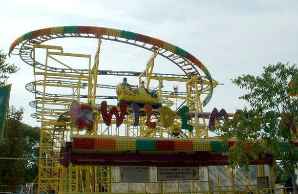 Wild Mouse Coaster in Prater