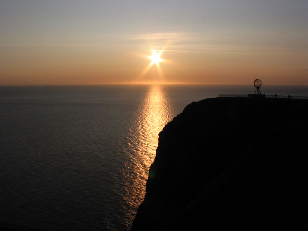 Midnightsun at North Cape (Nord Kapp)