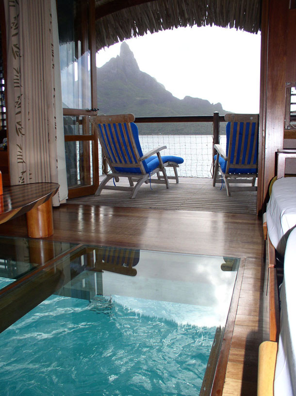 Inside Bungalow in Bora Bora