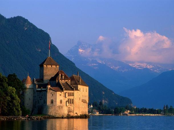 Chateau de Chillon in Montreux, Switzerland