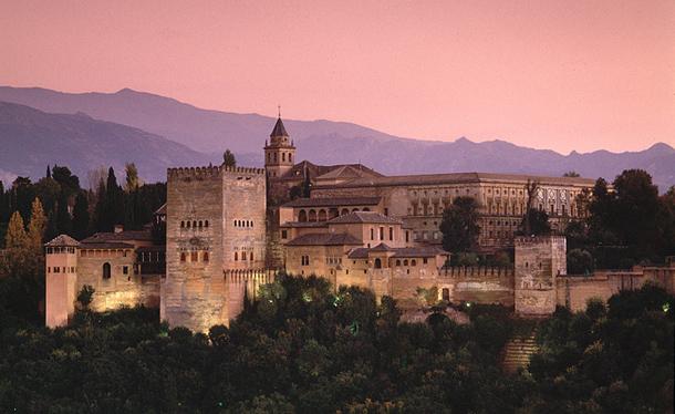 The Moorish Alhambra Palace, Granada