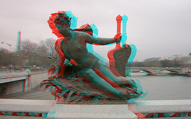 3D Angel on the Seine, Paris, France