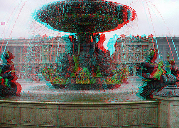 3D Fountain in Paris, Sightseeing in France