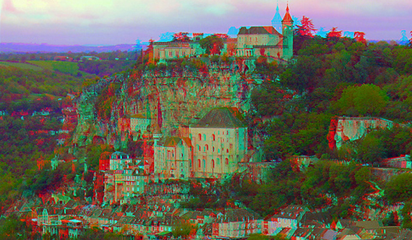 3D Rocamadour,France