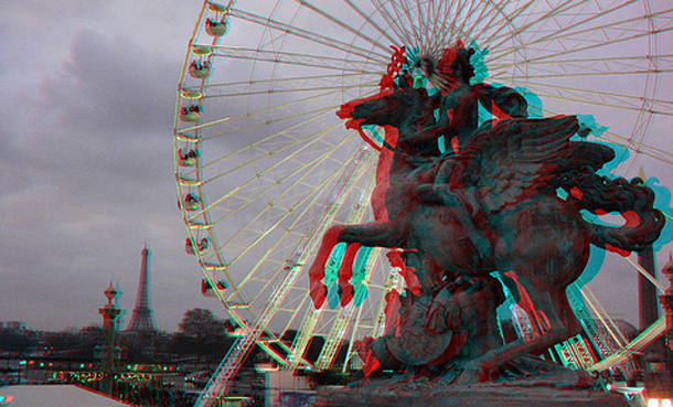3D Top Attraction is Paris, France, Place de la Concorde