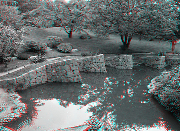 Albert Kahn Garden near Paris, 3D Landscape in Paris
