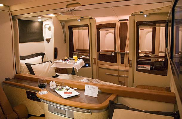 Business Class in Airbus A380