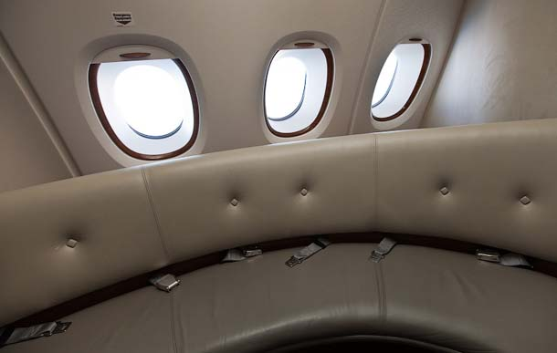 Comfortable Sofa in Airbus A380
