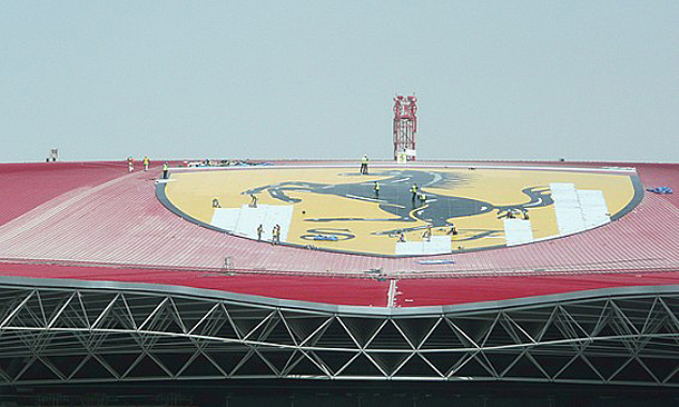 Ferrari World Greatest Logo in the World, Yas Island