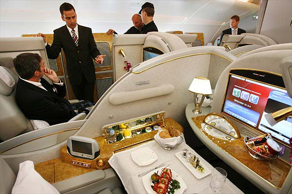 First Class Private Seat in Airbus A380