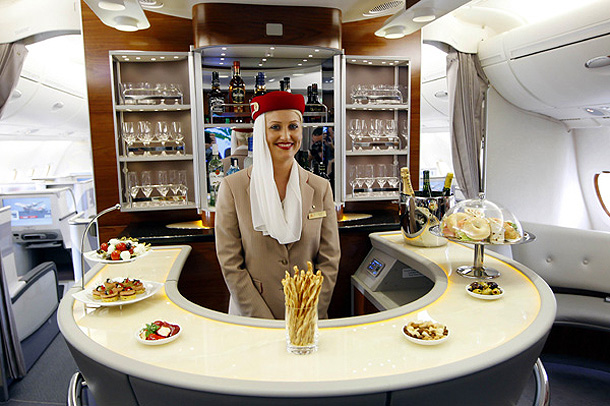 Free Bar in Airbus A380