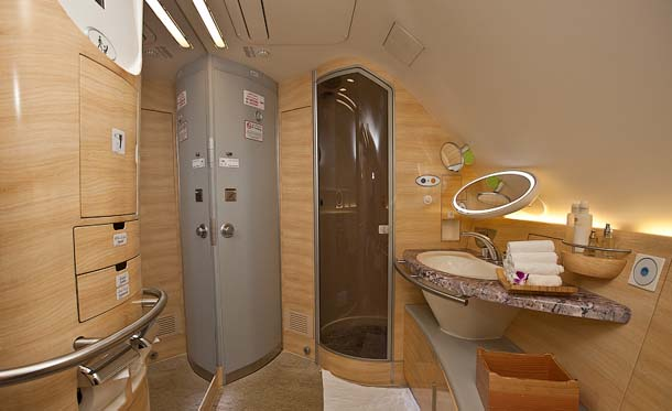 Luxurious Bathroom in Airbus A380