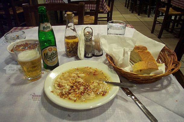 Patsas Soup, traditional dish in Greece