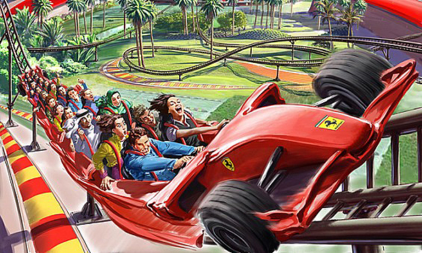 Rollercoaster in Ferrari World, Abu Dhabi