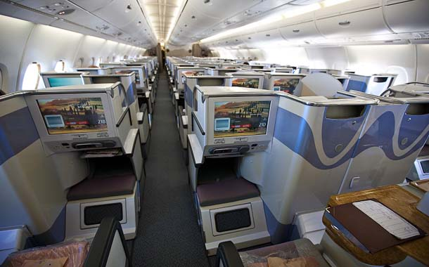 Seat Rows in Airbus A380