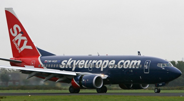 Sky Europe - insolvent low cost airline company during the financial crisis