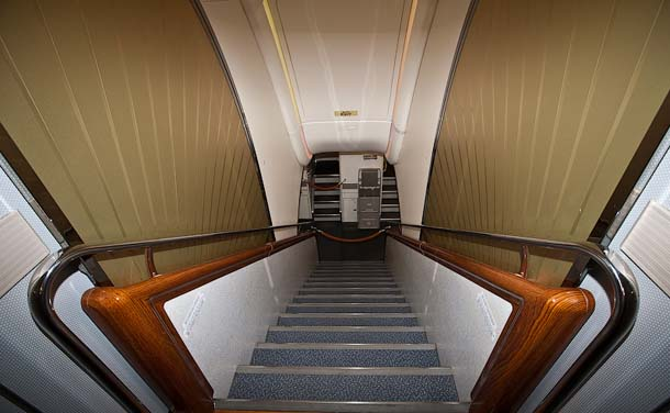 Stairs Between First and Second Deck in Airbus A380