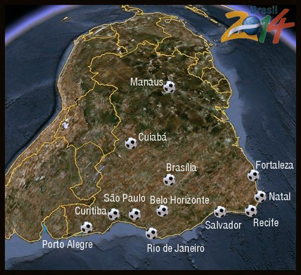 World Cup 2014 - Host Cities in Brazil