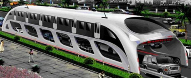 3D Express Coach, China's Straddling Bus