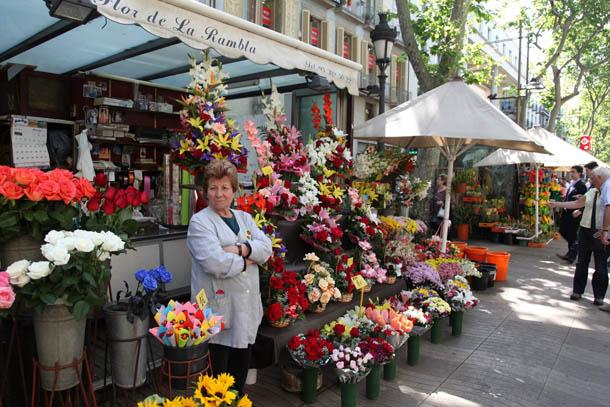 Beautiful Flower Shop on La Rambla, Barcelona