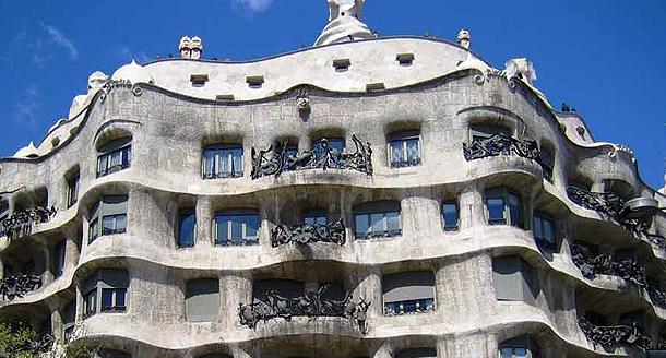 La Pedrera, Barcelona, designed by Antoni Gaudi