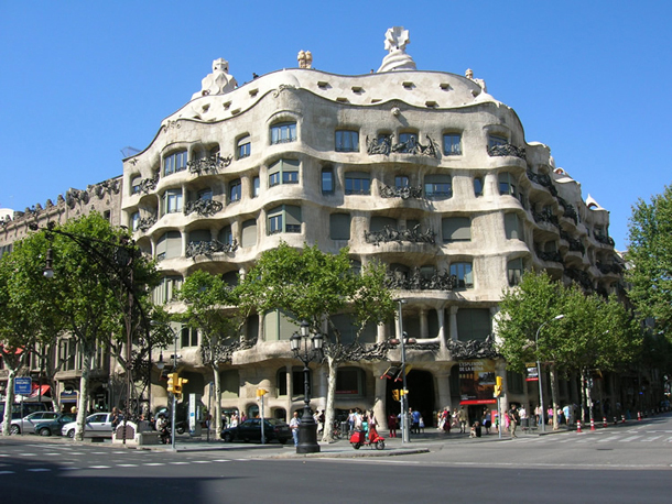 La Pedrera, Casa Mila in Barcelona, Spain