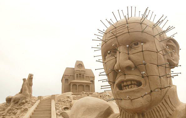 Man, Sand Sculpture Festival