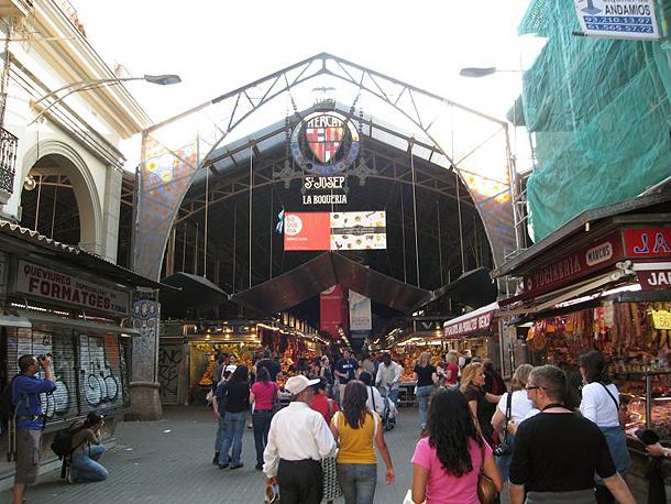 Mercat de la Boqueria, the Famous Market on Las Ramblas, Barcelona