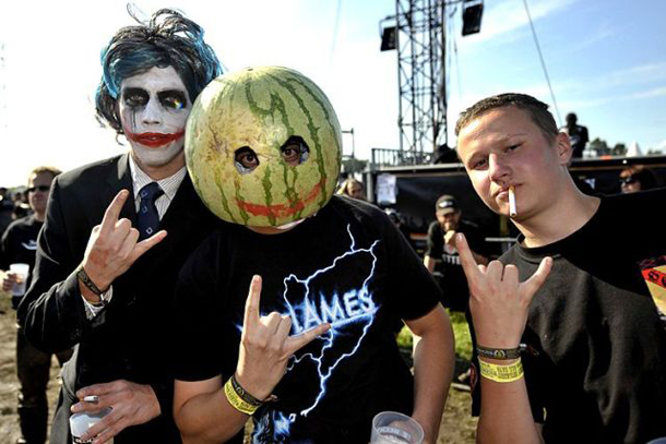 Metal Music Fans at Wacken Open Air Festival, Germany