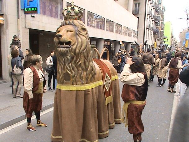 Parade on La Rambla, Barcelona