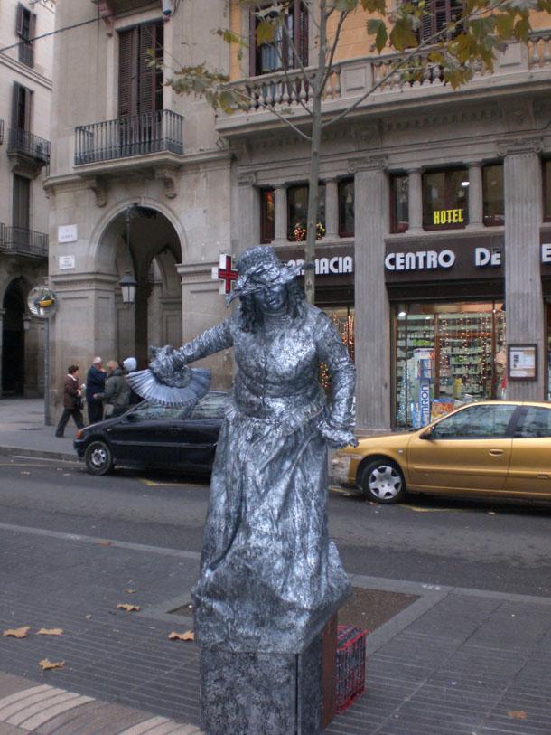 Performer on Las Ramblas Boulevard, Barcelona